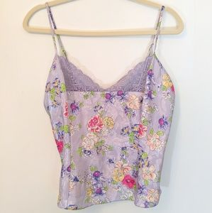 Victoria's Secret Gold Label Floral Cami Tank Med